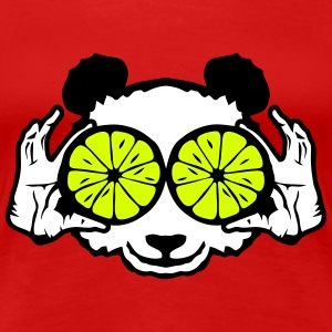 panda eye ring lemon hand drawing T-Shirts - Women's Premium T-Shirt