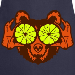 Bear eye drawing lemon hand drawing  Aprons - Cooking Apron