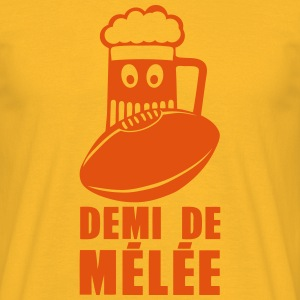 demi de melee rugby biere humour sport Tee shirts - T-shirt Homme