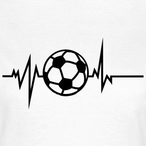 foot soccer trace courbe coeur battement Tee shirts - T-shirt Femme