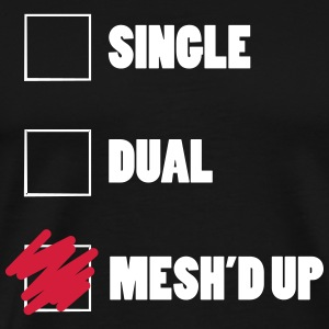 Vape Single Dual Mesh'd  T-shirts - Herre premium T-shirt