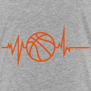 basketball trace curve heart word beat 8 Shirts - Kids' Premium T-Shirt