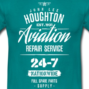 John Lee Houghton Aviation Repair Service  - Men's T-Shirt