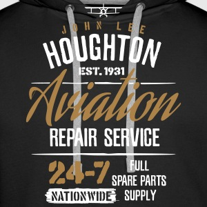John Lee Houghton Aviation Repair Service  - Men's Premium Hoodie