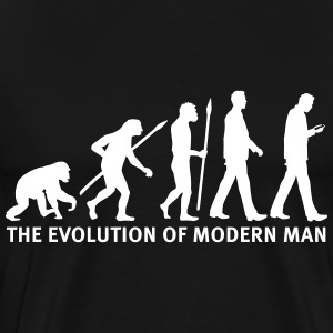 evolution_of_man_smartphone03_1c T-Shirts - Männer Premium T-Shirt
