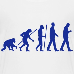 evolution_of_man_smartphone02_1c T-Shirts - Teenager Premium T-Shirt