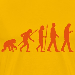 evolution_of_man_smartphone02_1c T-Shirts - Männer Premium T-Shirt