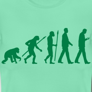 evolution_of_man_smartphone02_1c T-Shirts - Frauen T-Shirt