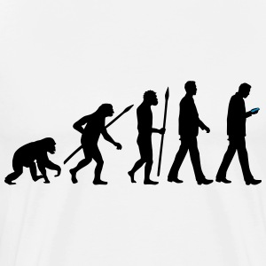 evolution_of_man_smartphone01_2c T-Shirts - Männer Premium T-Shirt