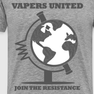 Vapers United Globe T-shirts - Herre premium T-shirt