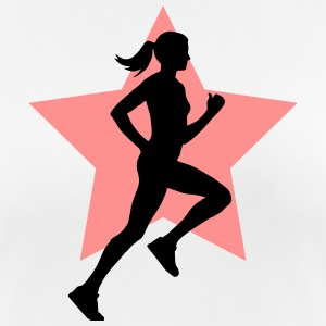 running woman star T-Shirts - Frauen T-Shirt atmungsaktiv