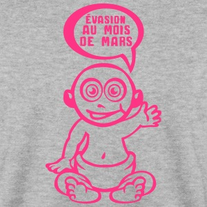 grossesse evasion prevue mars bebe Sweat-shirts - Sweat-shirt Homme