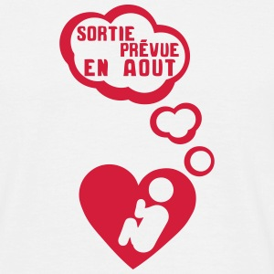 grossesse foetus sortie aout coeur bebe Tee shirts - T-shirt Homme