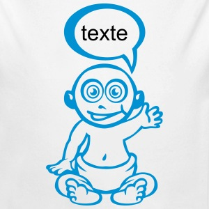 Add text pregnancy baby drawing bubble Baby Bodysuits - Longlseeve Baby Bodysuit