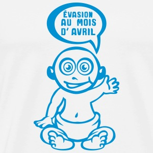 grossesse evasion prevue avril bebe Tee shirts - T-shirt Premium Homme