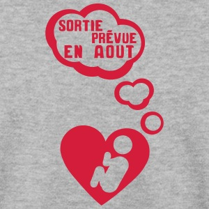 grossesse foetus sortie aout coeur bebe Sweat-shirts - Sweat-shirt Homme