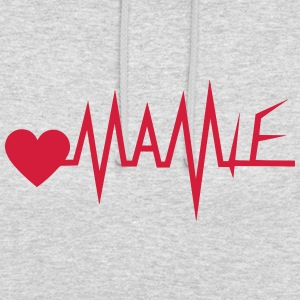mamie trace courbe cardiaque 1801 Sweat-shirts - Sweat-shirt à capuche unisexe
