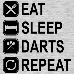 eat_sleep_darts_repeat_nl T-shirts - Mannen T-shirt