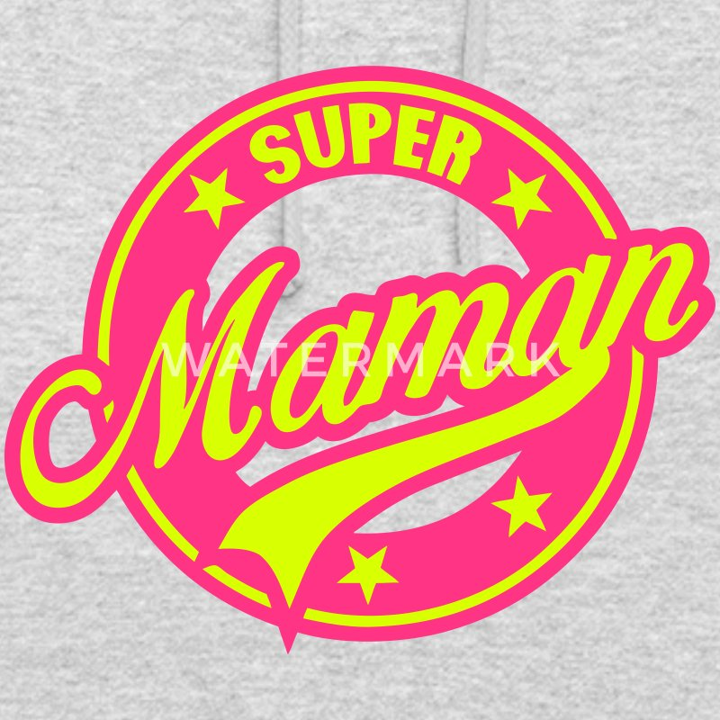 super maman vintage cercle rond logo 180 Sweat-shirts - Sweat-shirt à capuche unisexe