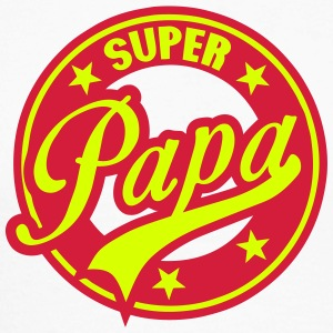 super papa vintage cercle rond logo 1801 Manches longues - T-shirt baseball manches longues Homme