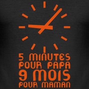 grossesse 5 9 minutes mois maman Tee shirts - Tee shirt près du corps Homme