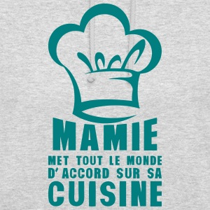 mamie cuisine toque chef accord monde 0 Sweat-shirts - Sweat-shirt à capuche unisexe