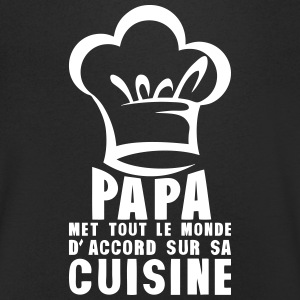papa cuisine toque chef accord monde 0 Tee shirts - T-shirt Homme col V