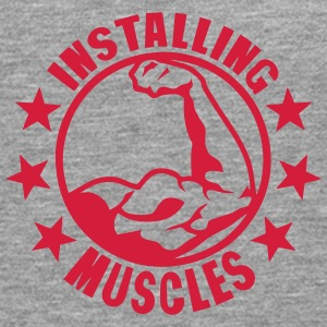 installing muscles logo bodybuilding 0 Long sleeve shirts - Men's Premium Longsleeve Shirt