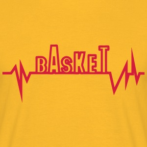Basketball trace curve heart word beat T-Shirts - Men's T-Shirt