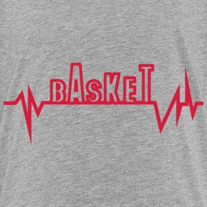 Basketball trace curve heart word beat Shirts - Teenage Premium T-Shirt