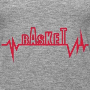 Basketball trace curve heart word beat Tops - Women's Premium Tank Top