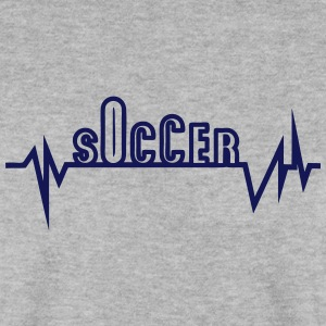 soccer trace curve heart word beat Hoodies & Sweatshirts - Men's Sweatshirt