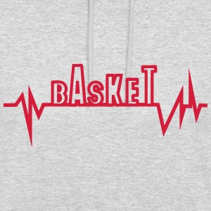 Basketball trace curve heart word beat Hoodies & Sweatshirts - Unisex Hoodie