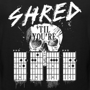 Sort Shred 'til you're dead Sportsbeklædning - Herre Premium tanktop