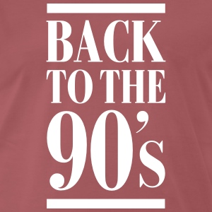 Back To The 90´s T-shirts - Herre premium T-shirt