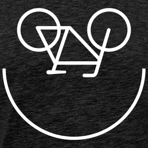 Bicycle Smiley Tee shirts - T-shirt Premium Homme
