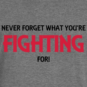 Never forget what you're fighting for! Pullover & Hoodies - Frauen Pullover mit U-Boot-Ausschnitt von Bella