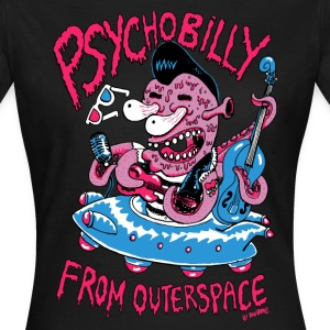 psychobilly from outerspace Tee shirts - T-shirt Femme