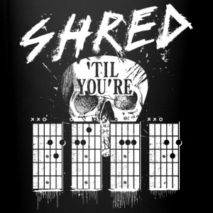 Black Shred 'til you're dead Mugs & Drinkware - Full Colour Mug