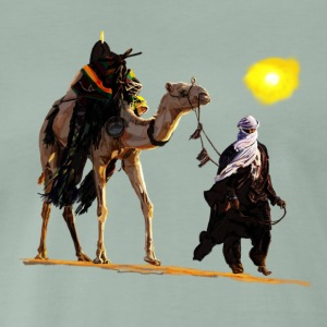 bedouin with camel T-Shirts - Men's Premium T-Shirt