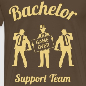 Bachelor Game Over Support Team (Stag Party / 1C) T-Shirts - Men's Premium T-Shirt