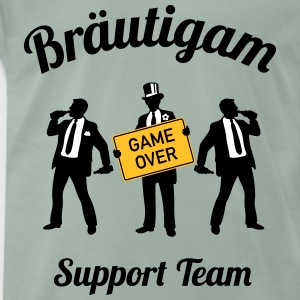 Bräutigam Game Over Support Team (JGA / 3C) T-Shirts - Männer Premium T-Shirt