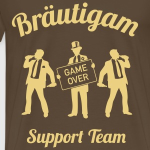 Bräutigam Game Over Support Team (JGA / 1C) Shirt - Männer Premium T-Shirt