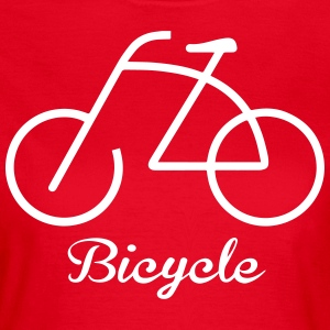 Bicycle rider Tee shirts - T-shirt Femme