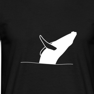 Jumping whale - white T-Shirts - Men's T-Shirt