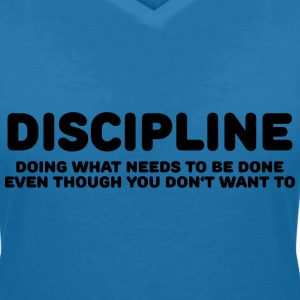 Discipline T-Shirts - Women's V-Neck T-Shirt