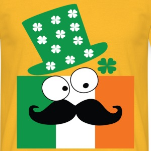 Irish mustache man st.Patrick's day Men's T-Shirt - Men's T-Shirt