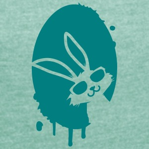 Graffiti Easter egg and Easter bunny T-Shirts - Women's T-shirt with rolled up sleeves