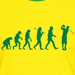 Evolution of golf T-Shirts - Männer Kontrast-T-Shirt