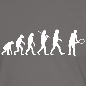 Evolution of tennis T-Shirts - Männer Kontrast-T-Shirt